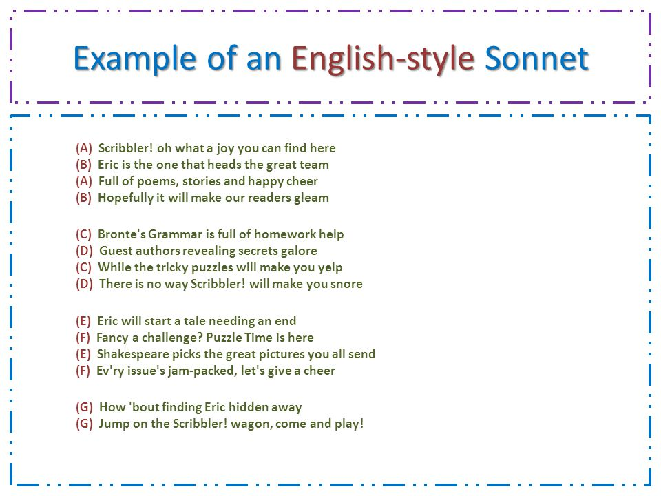 how to write a sonnet pdf