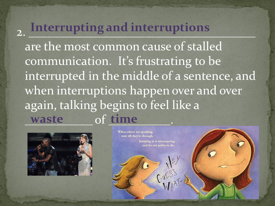 Interrupting and interruptions