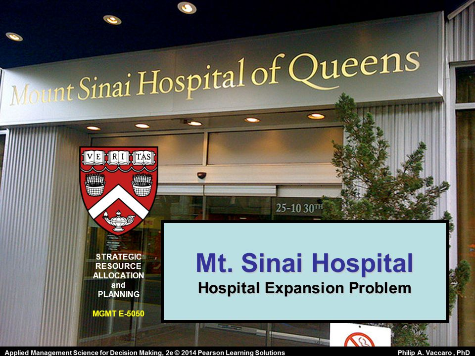 Hospital Expansion Problem