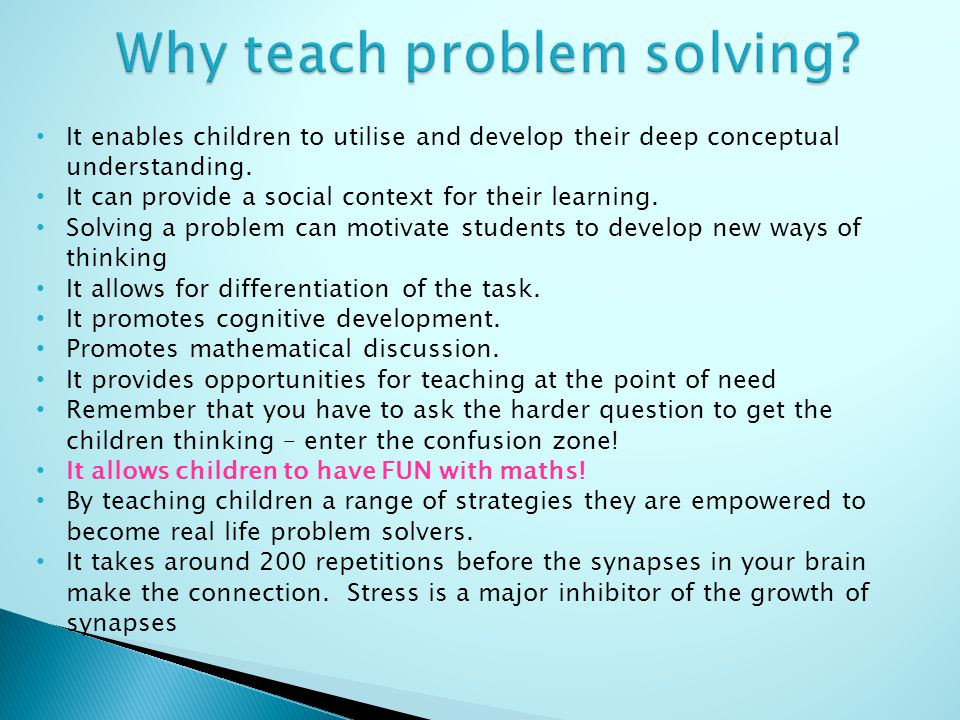 10 Ways to Teach your Children to be Problem Solvers