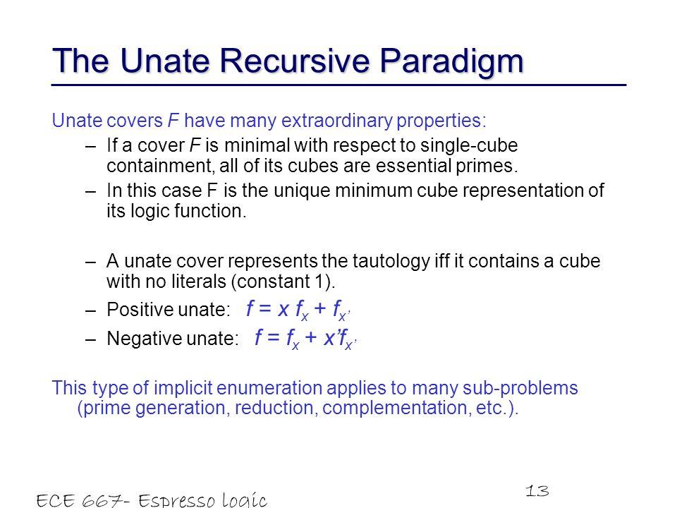 The Unate Recursive Paradigm