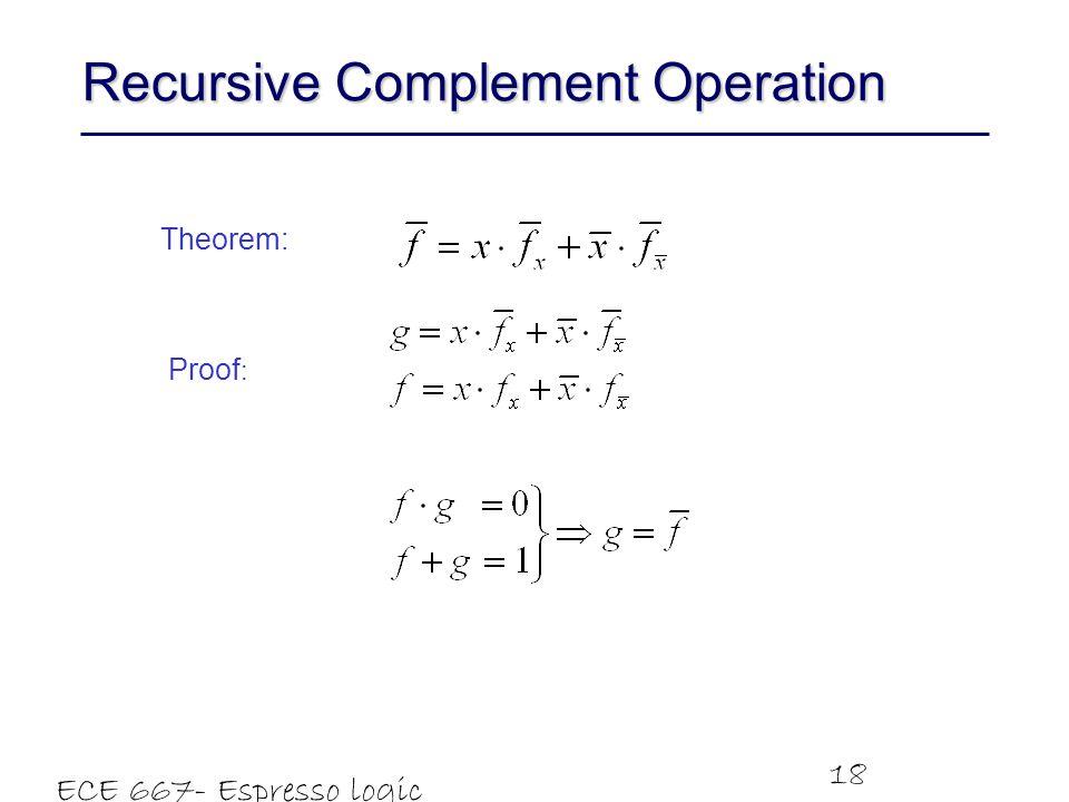 Recursive Complement Operation