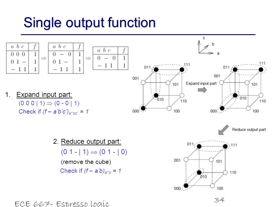 Single output function
