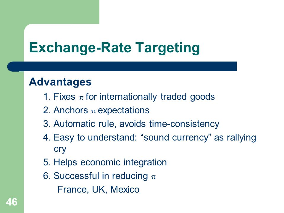 how exchange rate targeting by the Cnb faq  what are the regimes of monetary policy what  exchange rate targeting and inflation targeting regime with an implicit nominal anchor.