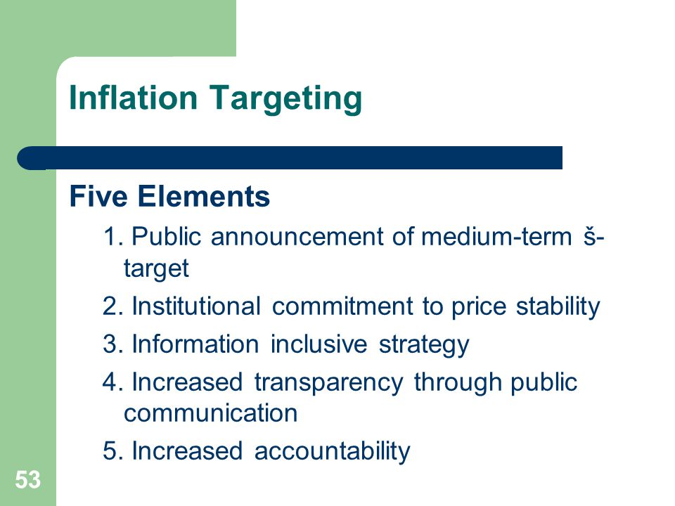 inflation targeting and financial stability in a relationship