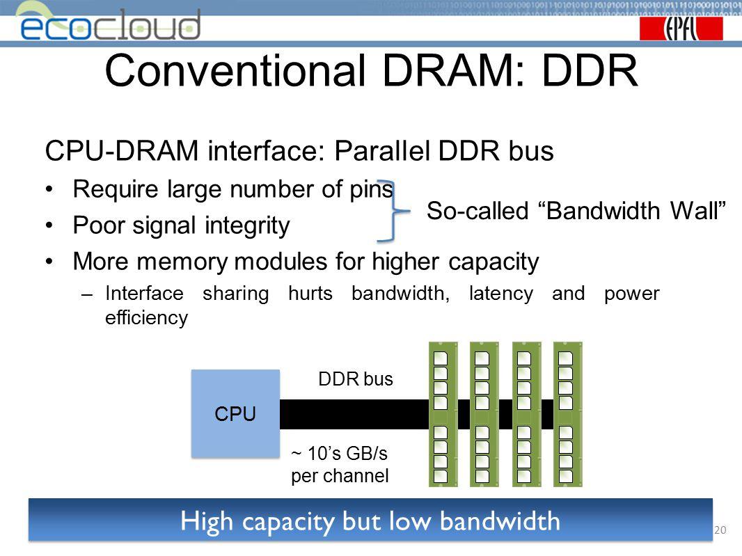 Conventional DRAM: DDR