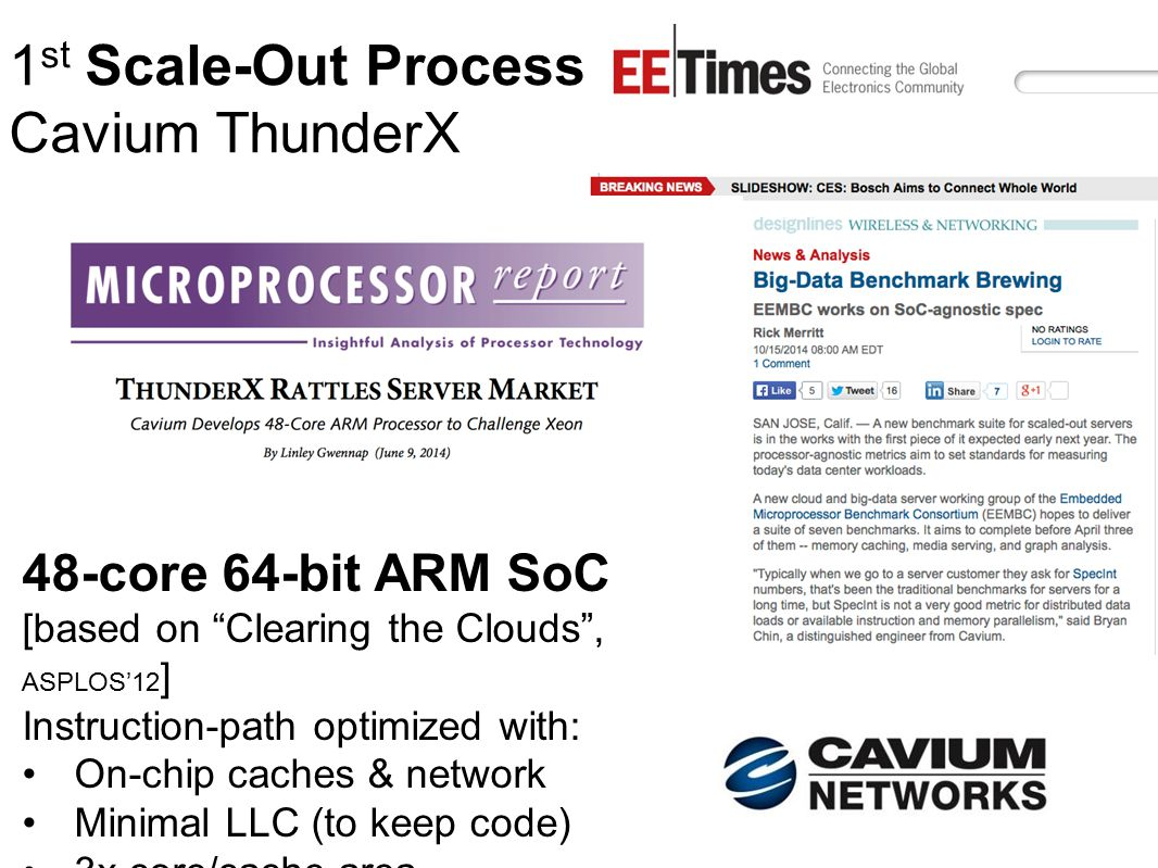1st Scale-Out Processor: Cavium ThunderX
