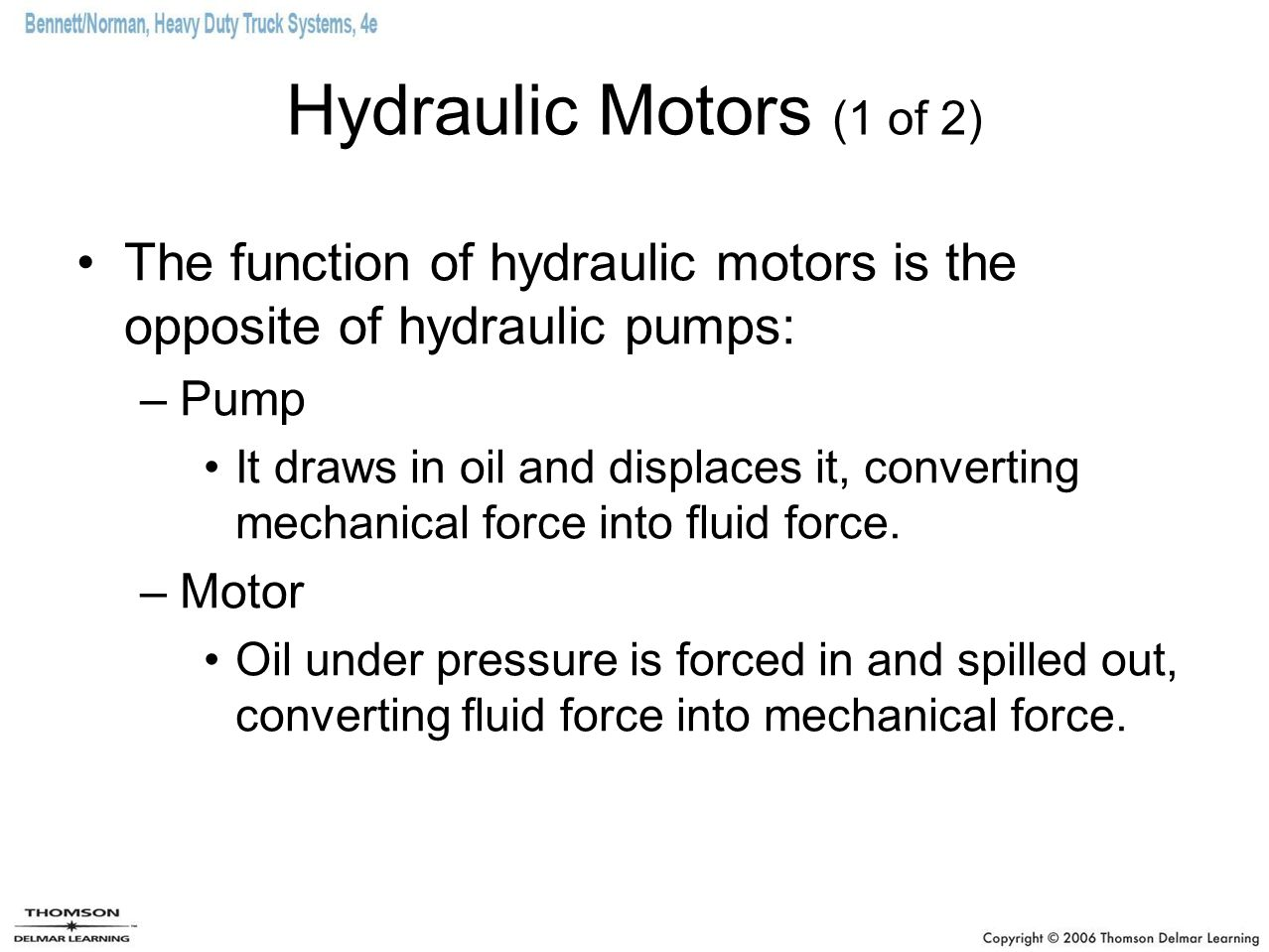 Chapter 13 hydraulics ppt download for What are the primary functions of motor oil