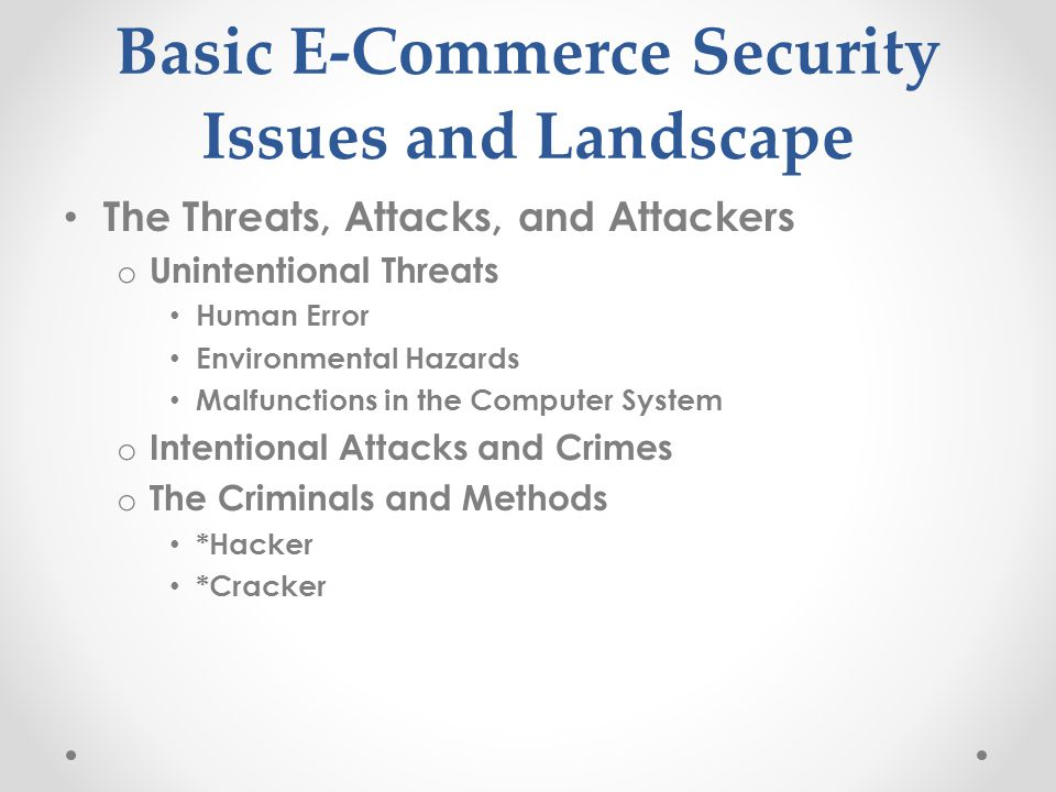 security vulnerabilities in e commerce systems Government and e-commerce web apps were the second and third most  new  operating systems, why don't they have the security to match.