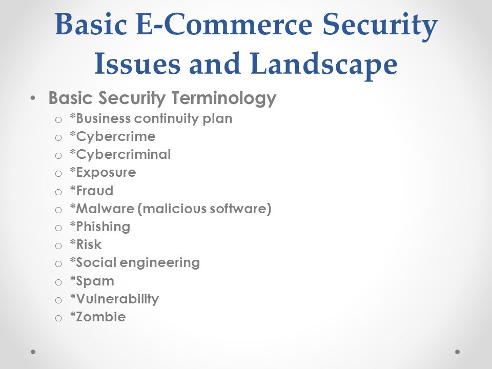 E Commerce Security And Fraud Issues And Protections Ppt