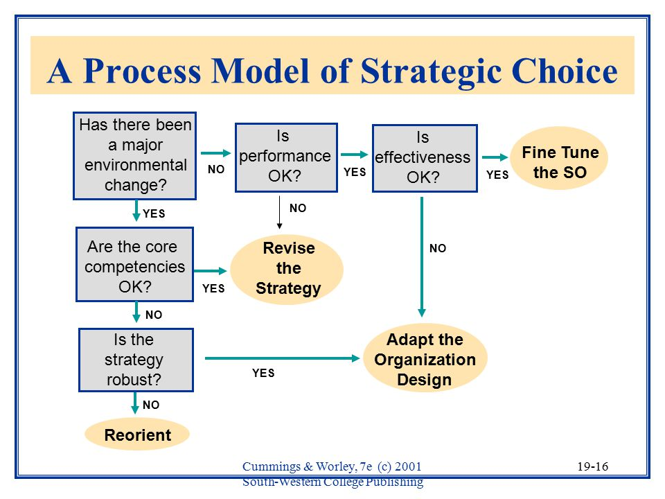 A Process Model of Strategic Choice