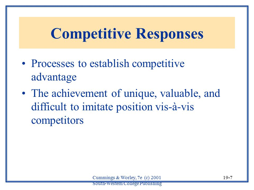 Competitive Responses