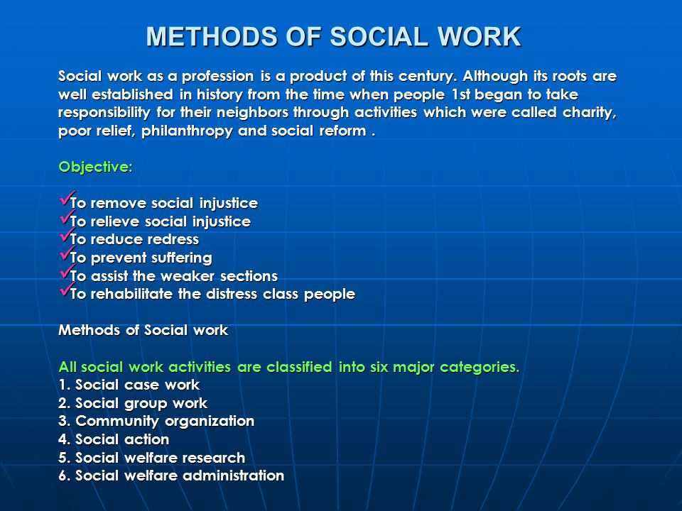 social get the job done groundwork methodology
