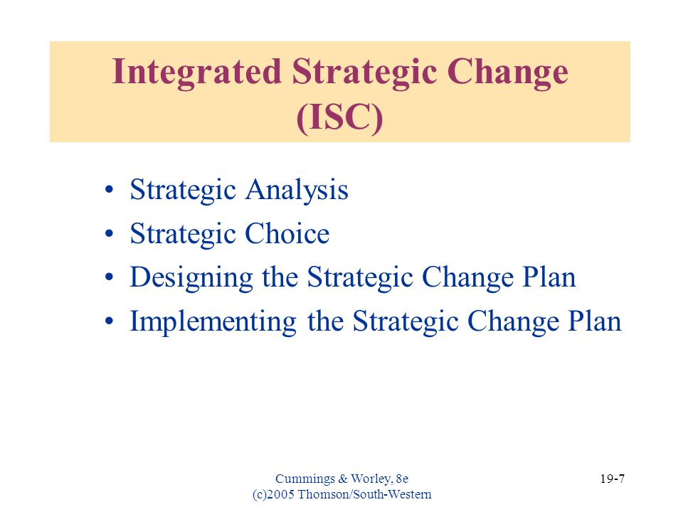 Integrated Strategic Change (ISC)
