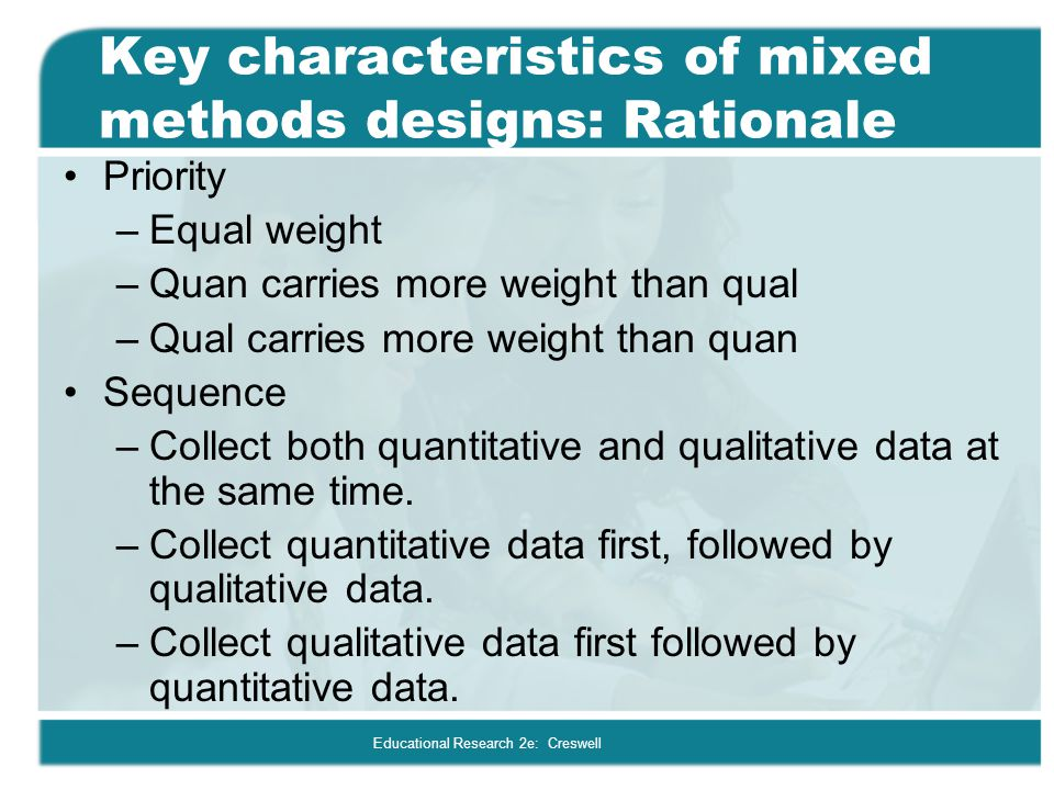 key characteristics quantitative method psychology essay Quantitative research approach  many characteristics are  bivariate results are commonly presented next to show the demographic distributions of key.