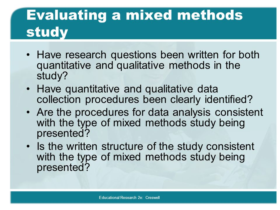 Evaluating a mixed methods study
