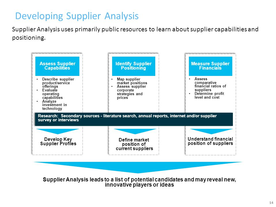 Developing Supplier Analysis