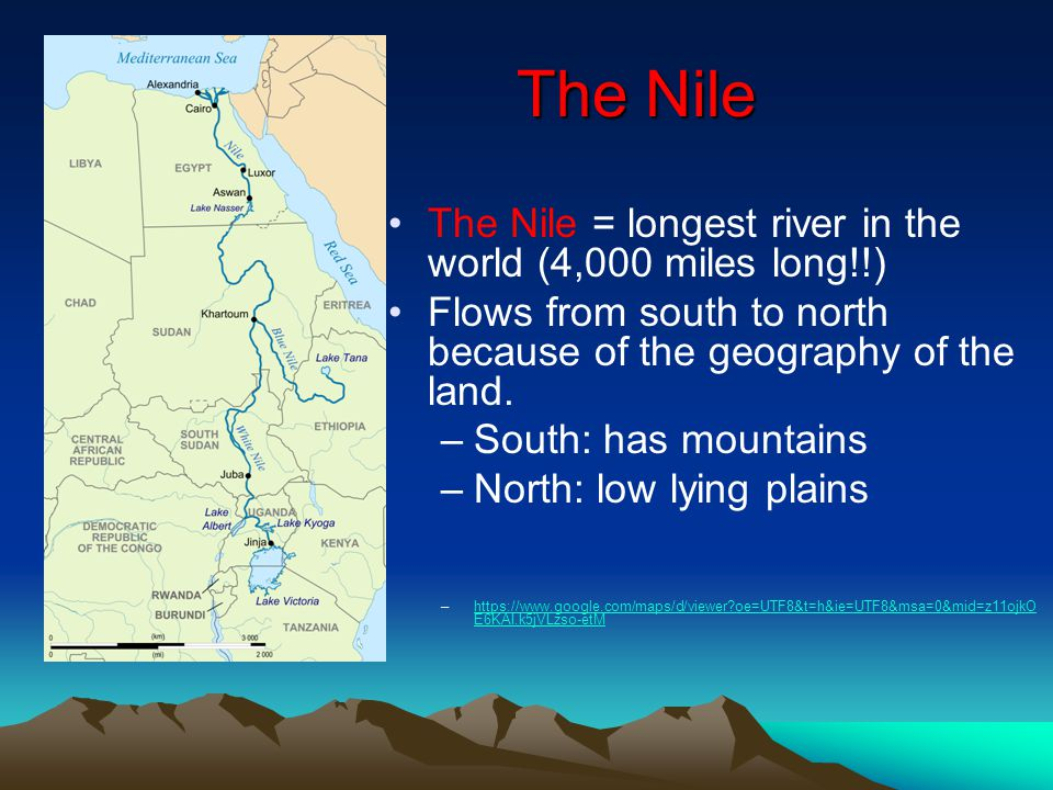 Egypt And The Nile River Valley Ppt Download - 4 longest rivers in the world