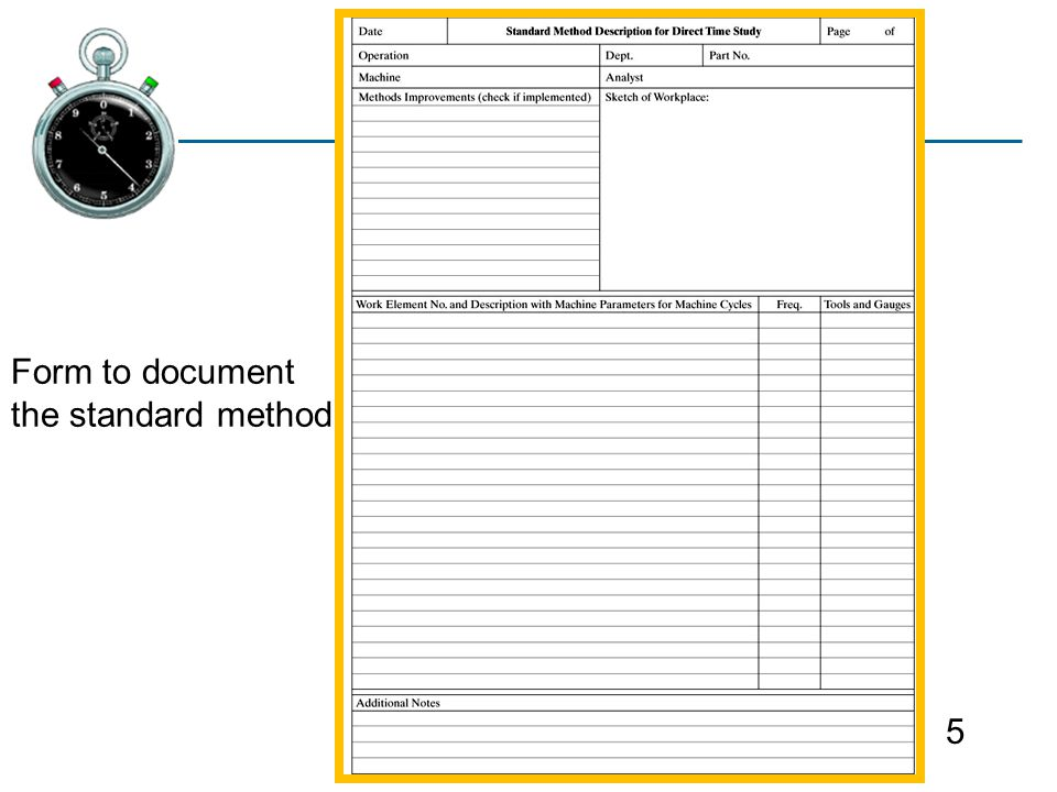 Paper Time Study Worksheet - IHI Home Page
