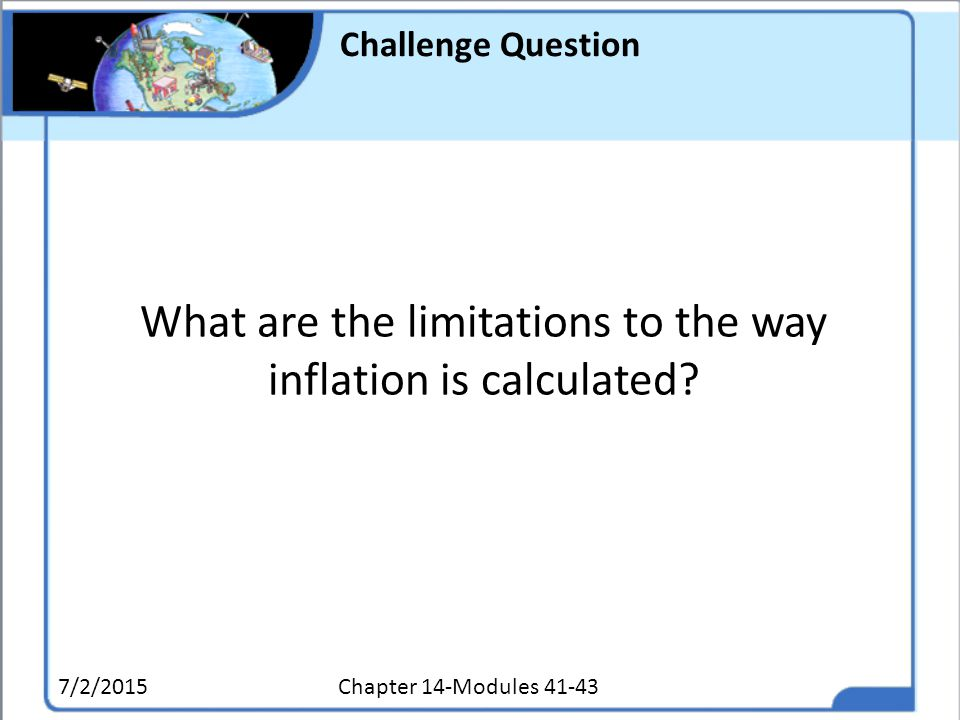 What are the limitations to the way inflation is calculated