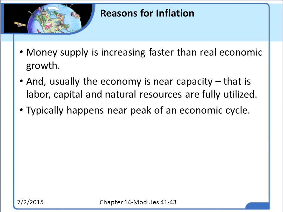 Money supply is increasing faster than real economic growth.