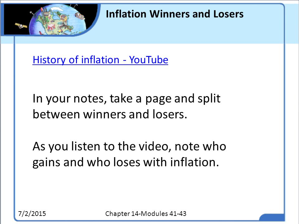 Inflation Winners and Losers