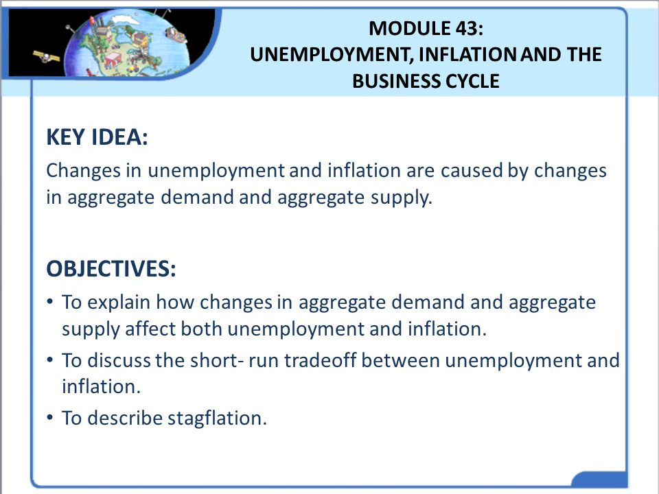 MODULE 43: UNEMPLOYMENT, INFLATION AND THE BUSINESS CYCLE