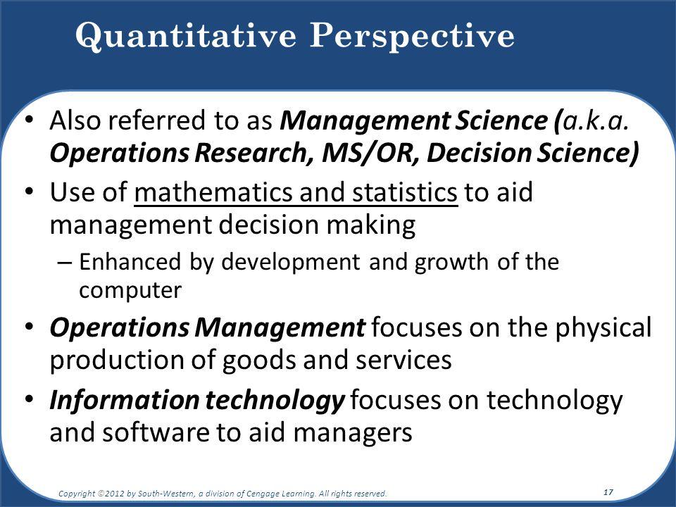 Quantitative Perspective