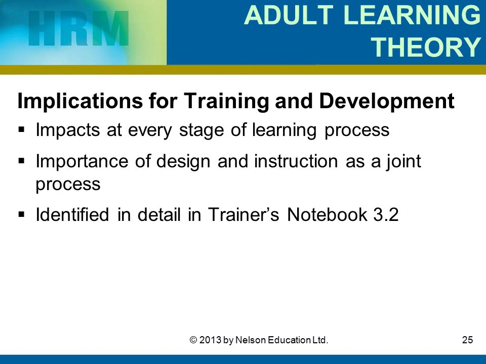 Adult learning theory course
