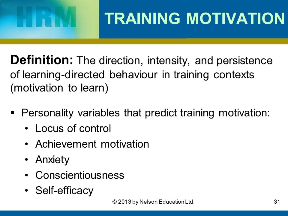 context that motivate learning