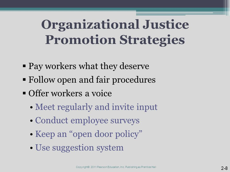 Organizational Justice Promotion Strategies