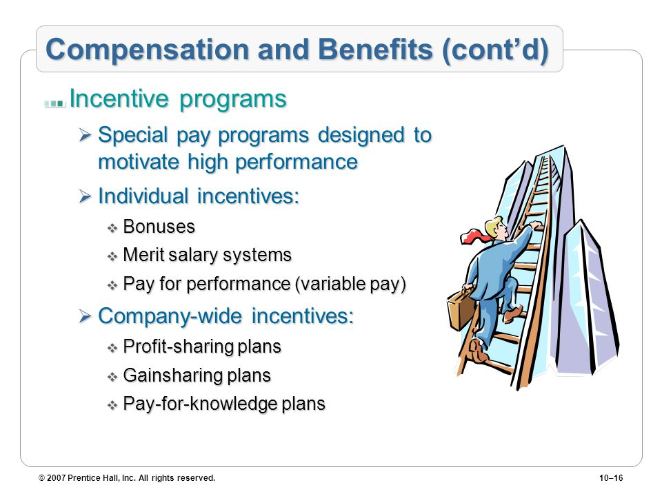 Compensation and Benefits (cont'd)