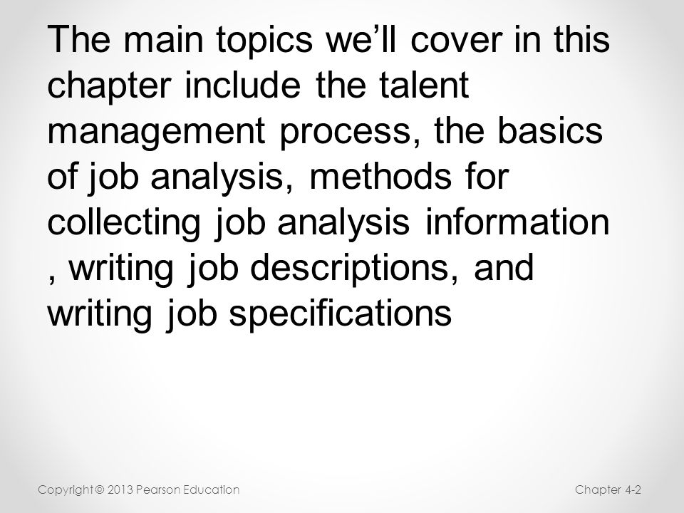 Job Analysis And The Talent Management Process - Ppt Download