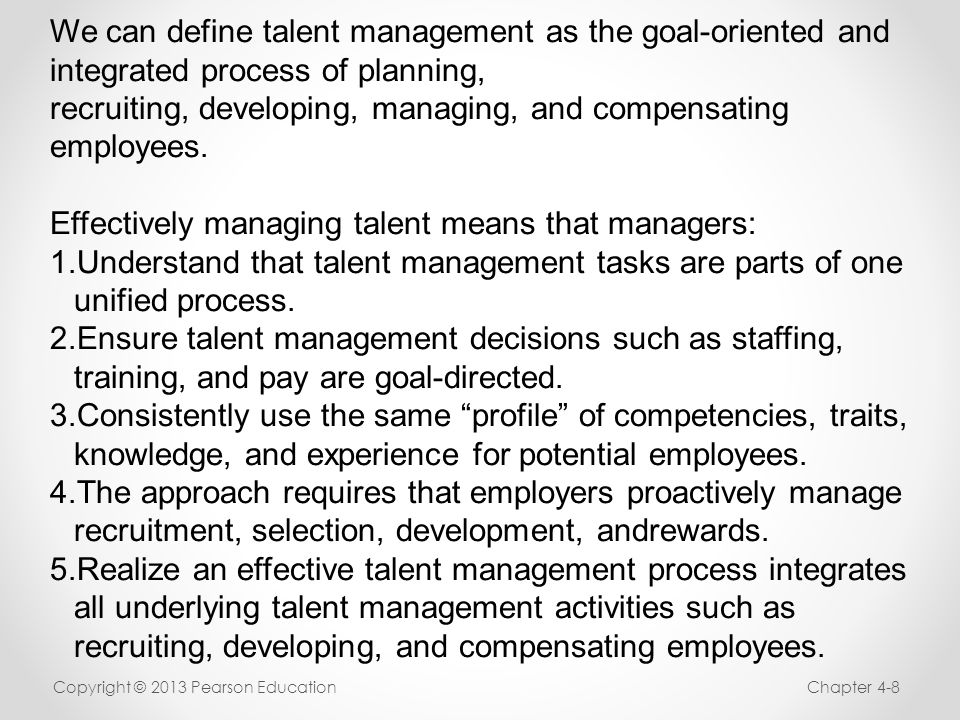 talent management a critical analysis on The impact of talent management on retention during the last decade, a shortage has emerged of talent in the workplace (frank & large corporations, suggesting a critical gap in executive recruiting and development for years to come.