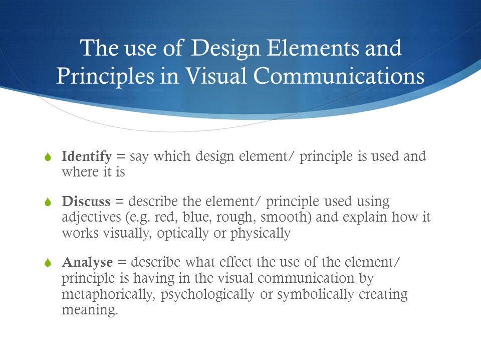 Visual Elements And Design Principles : Year visual communication design outcome vcd in