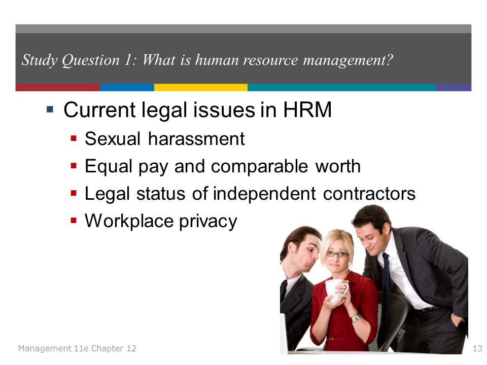 Study Question 1: What is human resource management