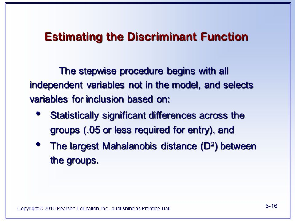 Difference Between Foyer And Entry : Chapter multiple discriminant analysis ppt video