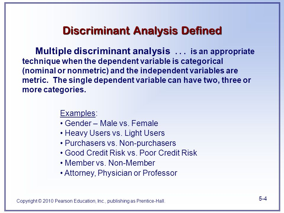 Chapter 5 Multiple Discriminant Analysis - ppt video ...