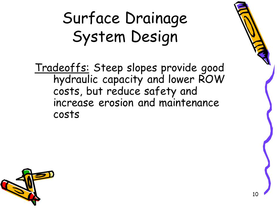 Surface drainage ce 453 lecture ppt download for Surface drainage system