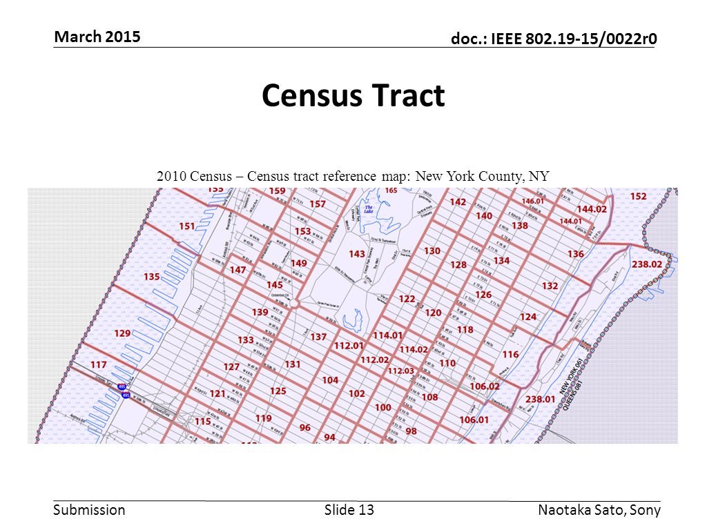 2010 Census – Census tract reference map: New York County, NY