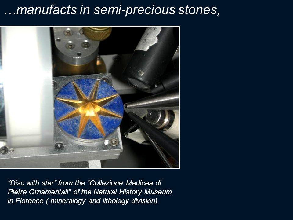 …manufacts in semi-precious stones,