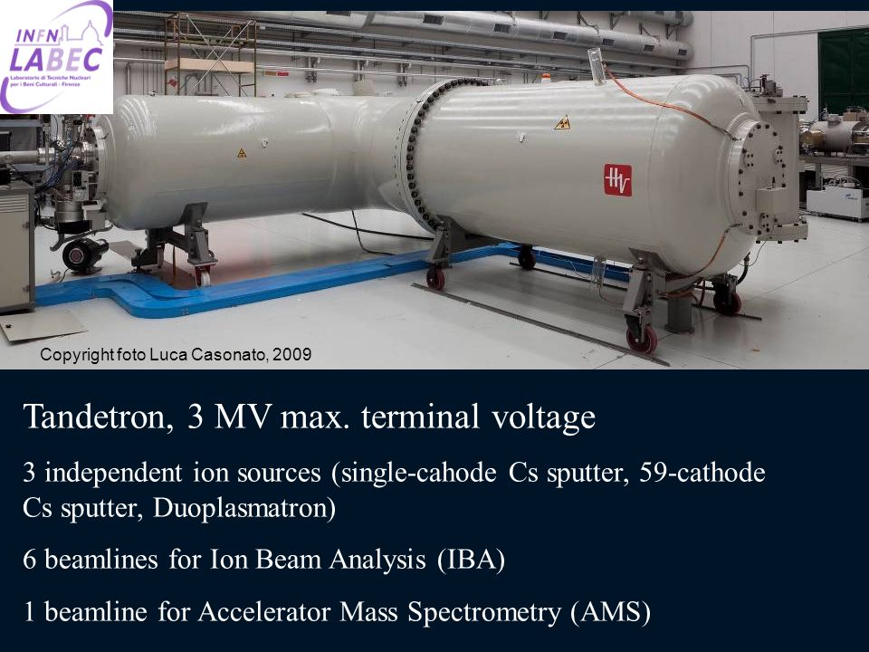 Tandetron, 3 MV max. terminal voltage
