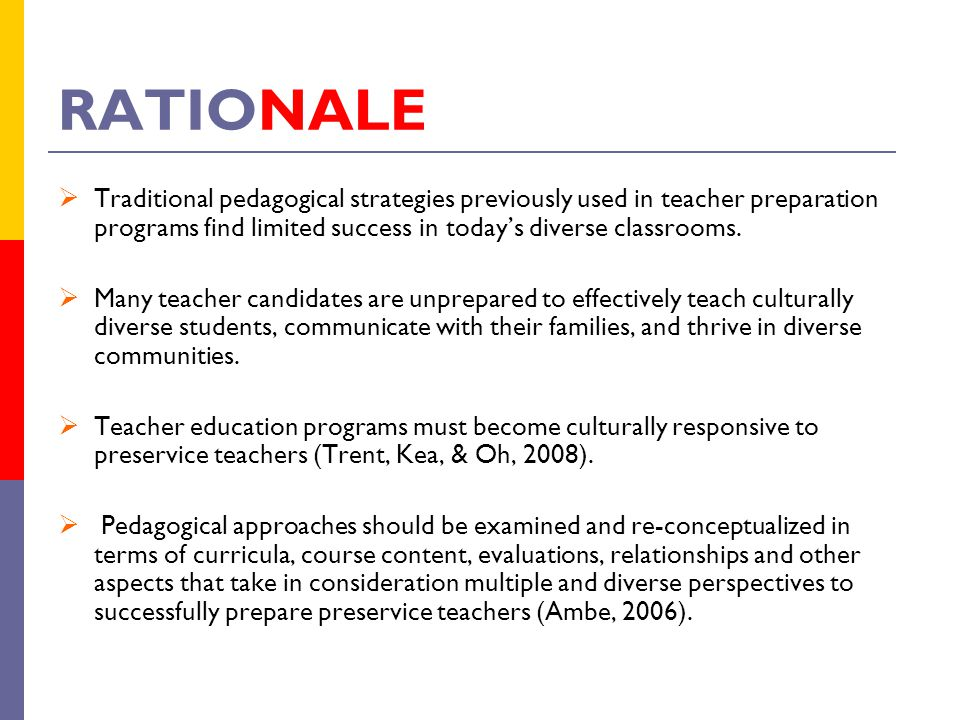 pedagogical rationale Teaching strategies  cooperative learning is a systematic pedagogical strategy that encourages small groups of students to work together for the achievement of a .