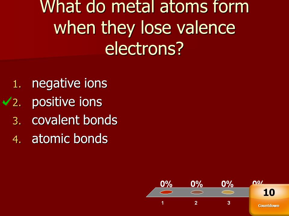 What do metal atoms form when they lose valence electrons
