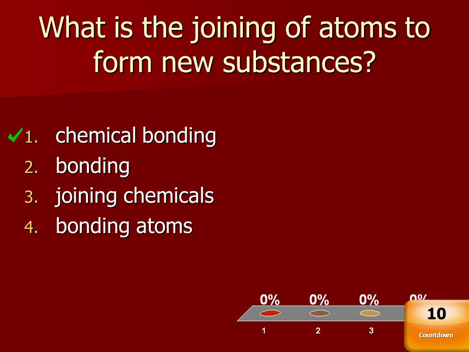 What is the joining of atoms to form new substances