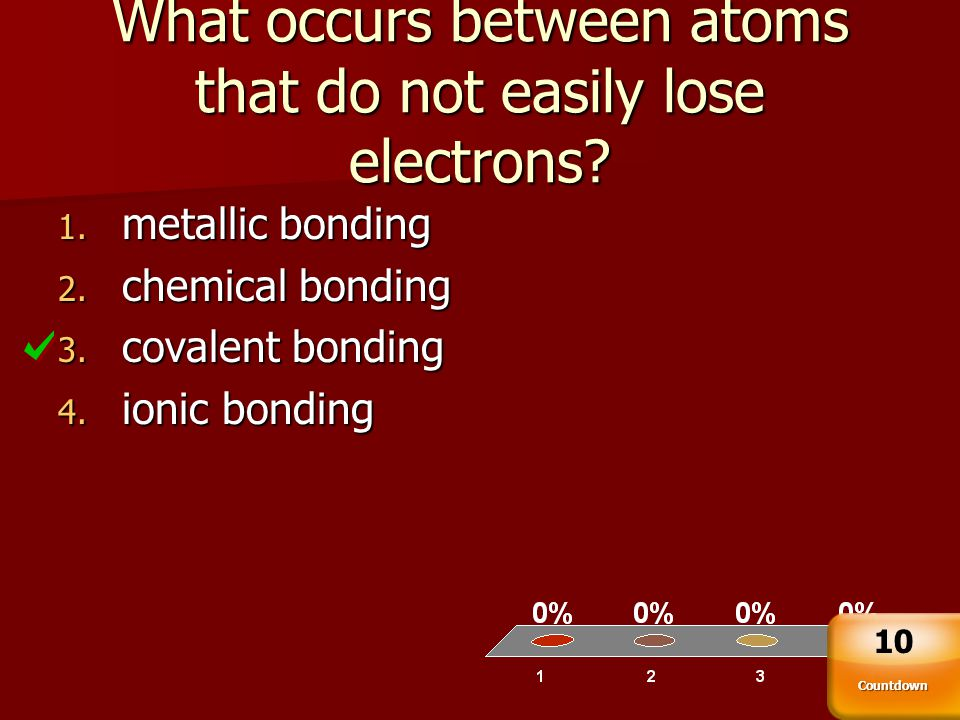 What occurs between atoms that do not easily lose electrons
