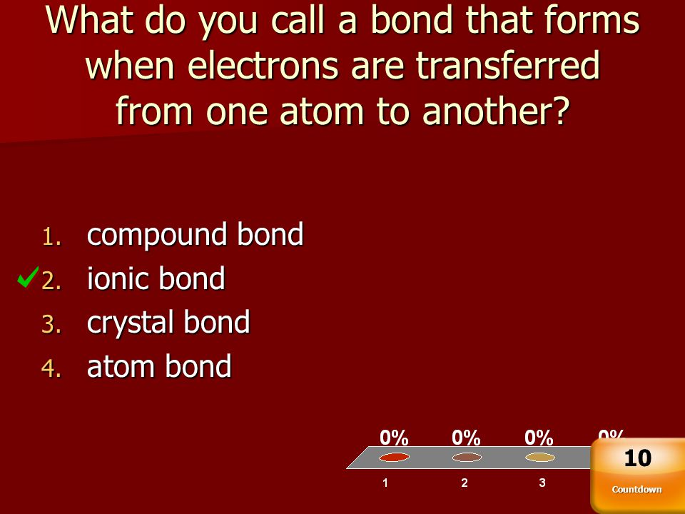 What do you call a bond that forms when electrons are transferred from one atom to another
