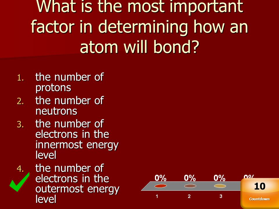 What is the most important factor in determining how an atom will bond