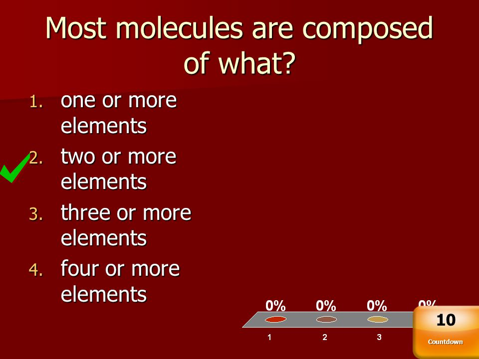 Most molecules are composed of what