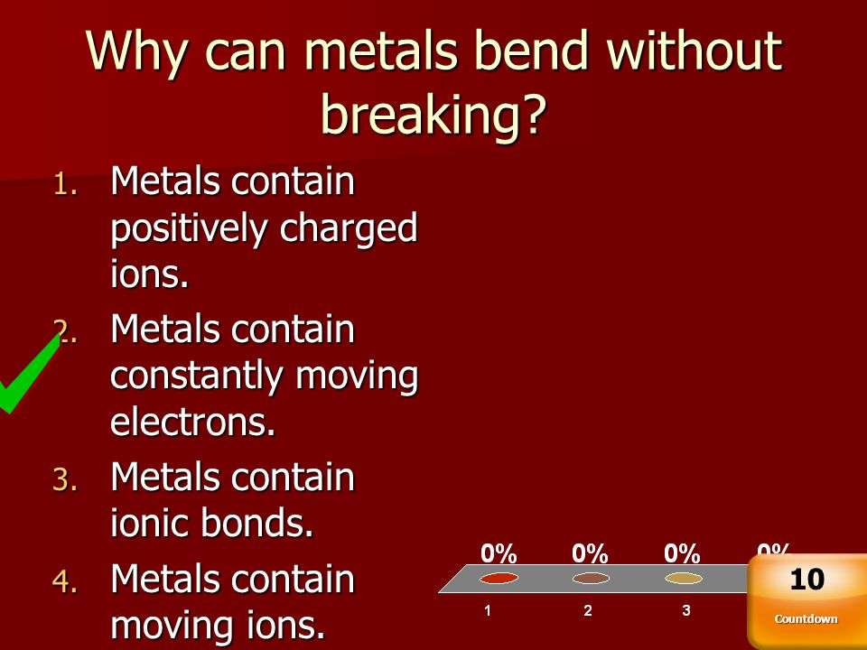Why can metals bend without breaking